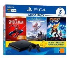 PLAYSTATION 4 SLIM 1TB + 3 JOGOS BUNDLE HITS 15